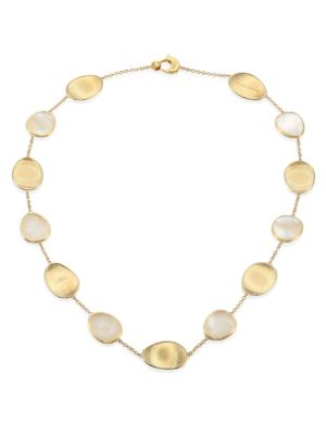 Lunaria Mother-Of-Pearl & 18K Yellow Gold Necklace