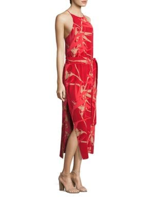Highneck Printed Slip Dress