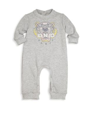 Baby's Tiger Embroidered Romper