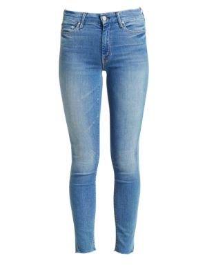 Looker Frayed Ankle Distressed Skinny Jeans