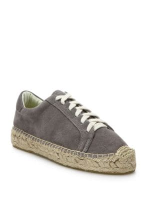 Canvas Lace-Up Espadrille Platform Sneakers