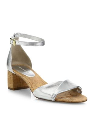 Florence Metallic Nappa Leather Sandals