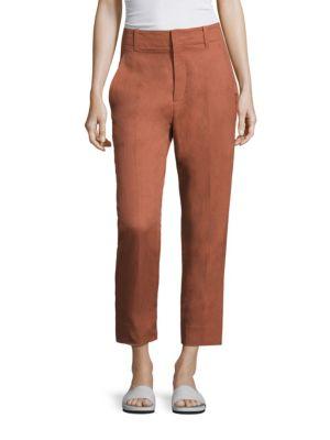 Textured Carrot Pants