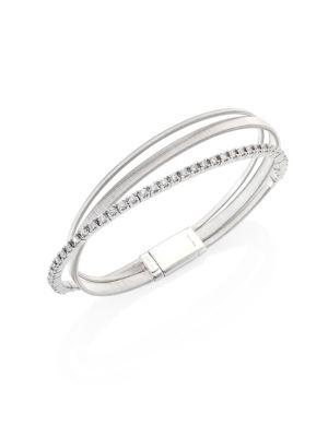 Masai Diamond & 18K White Gold Three-Row Bracelet