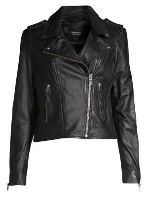 Donna Leather Biker Jacket