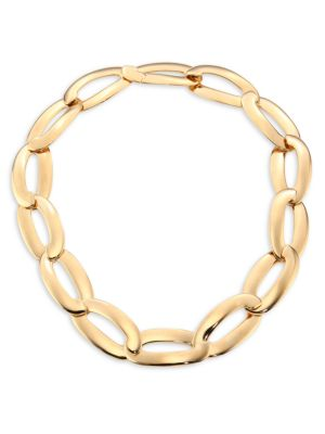 VHERNIER Olimpia 18K Rose Gold Link Necklace