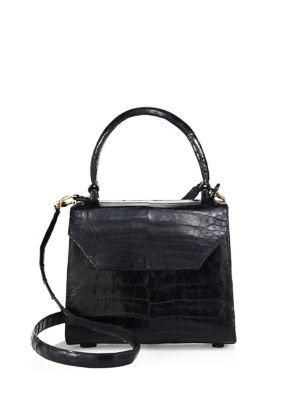 Mini Lily Crocodile Leather Crossbody Bag 0400093758170
