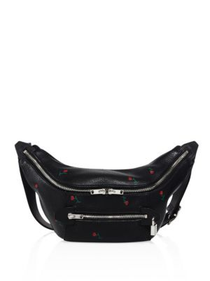 Padlock Leather Fanny Pack