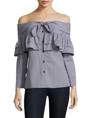 Georgia Off-The-Shoulder Ruffle Blouse