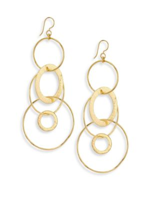 Classico Jumbo 18K Yellow Gold Hammered Jet Set Earrings