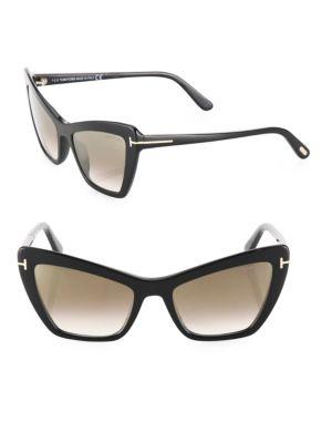 Valesca 55MM Mirrored Cat Eye Sunglasses