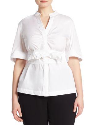Brenda Cotton Poplin Shirt by Marina Rinaldi, Plus Size