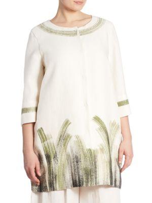 Foglia Linen Coat by Marina Rinaldi, Plus Size