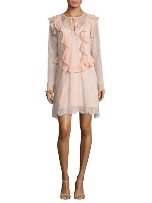 Luna Lace Ruffle Dress by Delfi Collective