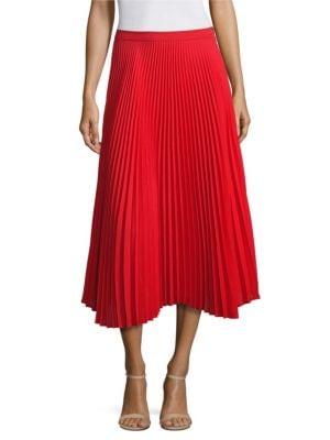 Clara Pleated Midi Skirt by Delfi Collective