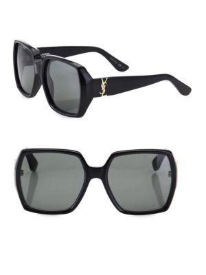 Saint Laurent 58MM Oversized Square Sunglasses