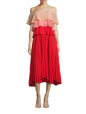 Vanessa Ruffle Tiered Off-The-Shoulder Dress