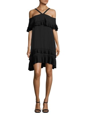 Blake Pleated Ruffle Dress