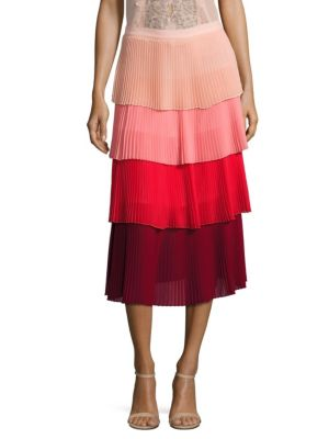 Lauren Tiered Pleated Skirt
