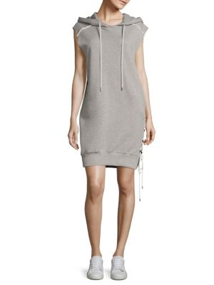 Loren Cotton French Terry Hooded Dress