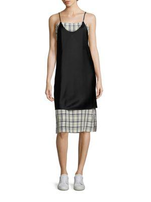 Blair Kelly Plaid Slip Dress