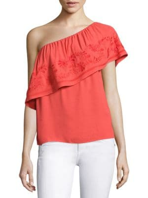 Rita One-Shoulder Top by Rebecca Minkoff