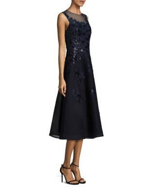 Sequined Applique Lace Dress