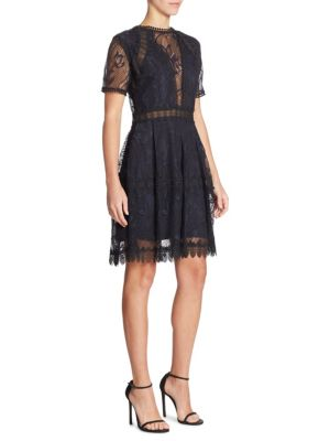 Iris Paneled Lace Dress