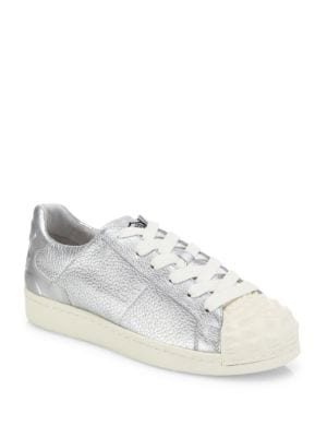 Crack Leather-Blend Sneakers