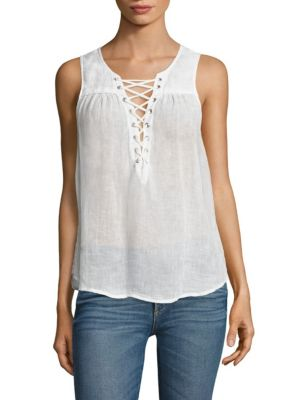 Kaia Lace-Up Sleeveless Top