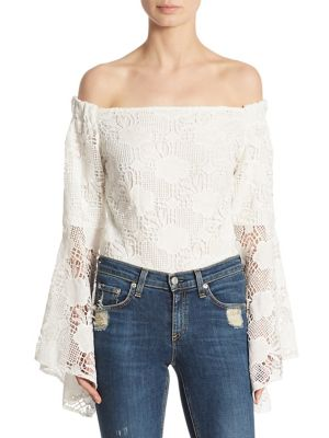 Santorini Off-The-Shoulder Lace Bodysuit