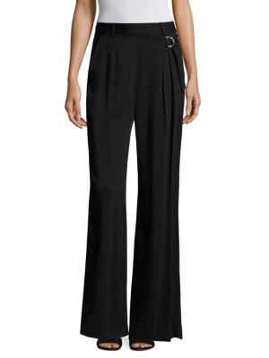 T by Wide Leg Silk Trousers