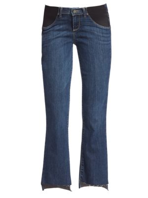 Riley Maternity Step Hem Medium Wash Jeans