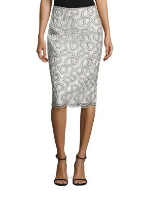 Embellished Pencil Skirt