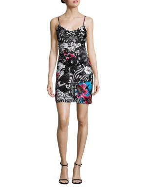 Miami Embroidered Silk Slip Dress