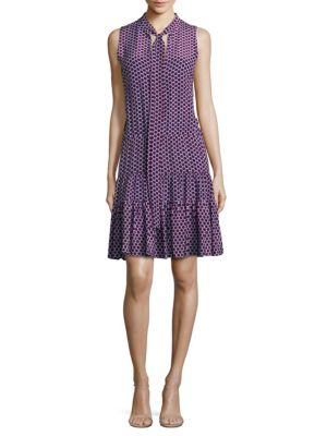Britta Sleeveless Polka Dot Dress