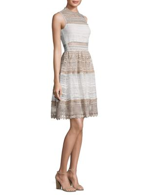 Melania Tiered Lace Dress