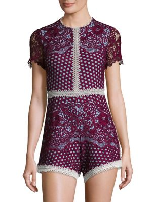 Rowen Embroidered Lace Romper