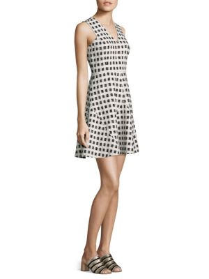 Gingham Fit-&-Flare Dress