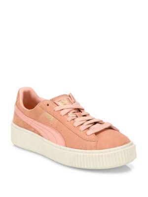 Suede Platform Sneakers