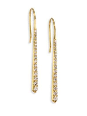 ILA Emi Diamond & 14K Yellow Gold Drop Earrings