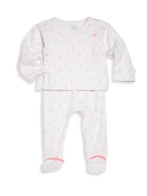 Baby's Two-Piece Carrot-Print Top & Pants Set
