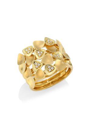 HUEB Bahia 18K Gold & Diamond Tiered Statement Ring