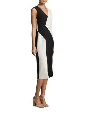 Havana Colorblock Crepe Dress
