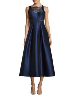 Lace Inset Tea Dress