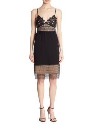 Melaena Elevate Crepe & Lace Dress