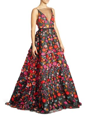 Floral Illusion Gown