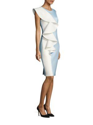 NERO BY JATIN VARMA Two-Tone Ruffled Dress