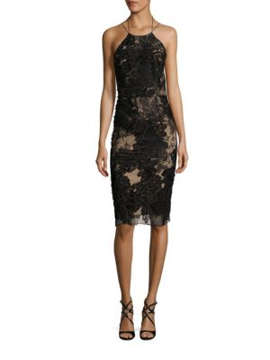 Buy Marchesa Notte Halter Soutage Dress online with Australia wide shipping