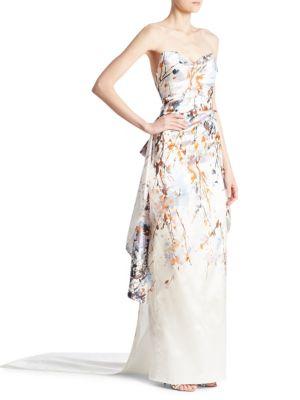 Strapless Column Gown